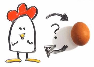 O que vem primeiro: o ovo ou a galinha?